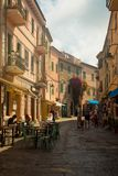 Calle central en Capoliveri, isla de Elba, Italia fotos de archivo libres de regalías