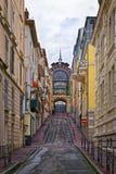Calle cerca de la primavera en Evian-les-Bains en Francia en la nueva y Fotografía de archivo