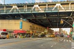 Calle cerca del puente de Manhattan en abajo Manhattan, Imagenes de archivo