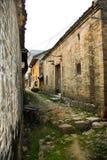 Calle china vieja en una aldea Fotografía de archivo