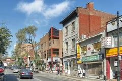 Calle Chinatown, Montreal de St Laurent foto de archivo