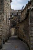 Calle Cobbled de un pueblo Imagen de archivo libre de regalías