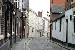 Calle Cobbled en Chester Inglaterra Imagen de archivo libre de regalías