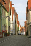 Calle cobbled europeo reservado Foto de archivo libre de regalías