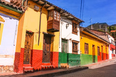 Calle colonial ¡de BogotÃ, Colombia Foto de archivo libre de regalías