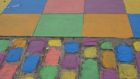 Calle colorida en la vecindad de Boca del La en Buenos Aires, la Argentina almacen de metraje de vídeo