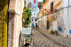 Calle colorida en Túnez imagen de archivo libre de regalías