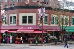 Calle comercial de Chinatown de Vancouver Fotos de archivo