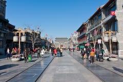 Calle comercial de Pekín Qianmen Fotos de archivo libres de regalías