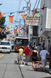 Calle comercial en Provincetown, Cape Cod en Massachusetts Imagenes de archivo