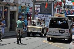 Calle comercial en Provincetown, Cape Cod en Massachusetts Foto de archivo