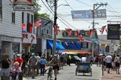 Calle comercial en Provincetown, Cape Cod en Massachusetts Imágenes de archivo libres de regalías
