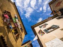 Calle con el lavadero Imagen de archivo