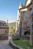 Calle con las casas medievales Imagen de archivo