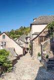 Calle con las casas medievales Foto de archivo