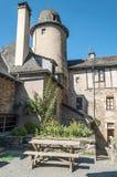 Calle con las casas medievales Imagenes de archivo
