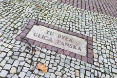 Calle conmemorativa de Panska Fotos de archivo