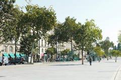 Calle Cours Franklin Roosevelt en Nantes, Francia Foto de archivo