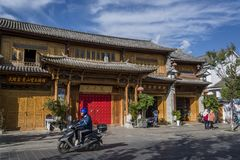 Calle, Dali Old Town, provincia de Yunnan, China imagen de archivo libre de regalías