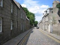 Calle de Aberdeen, Escocia Foto de archivo libre de regalías