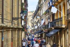 calle de 31 de Agosto en San Sebastian Old Town Gipuzkoa Imagenes de archivo