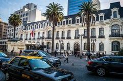 Calle de Agustinas, Santiago, Chile foto de archivo libre de regalías