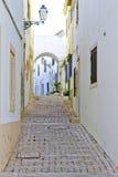 Calle de Albufeira Imagen de archivo libre de regalías