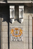 Calle de alcala, Мадрид, Испания Стоковые Изображения