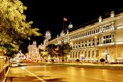 The Calle de Alcala and the Cybele Palace (Palacio de Cibeles) o Stock Image