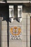 Calle DE alcala, Madrid, Spanje Stock Afbeeldingen
