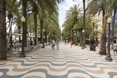 Calle de Alicante Imagen de archivo libre de regalías