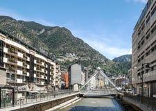 Calle de Andorra Foto de archivo libre de regalías