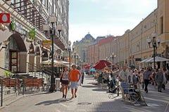 Calle de Arbatskaja Foto de archivo libre de regalías