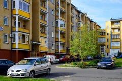 Calle de Baltrusaicio en Vilna en el tiempo de la tarde Fotografía de archivo libre de regalías