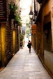 Calle de Barcelona Foto de archivo