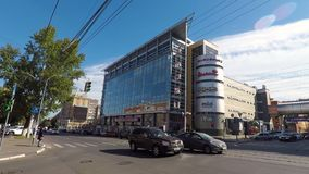 Calle de Belinskogo en Nizhny Novgood almacen de metraje de vídeo