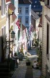 Calle de Bergen, Noruega. Imagen de archivo libre de regalías