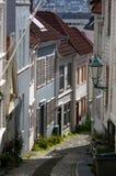 Calle de Bergen, Noruega. Foto de archivo libre de regalías
