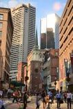 Calle de Boston Foto de archivo libre de regalías