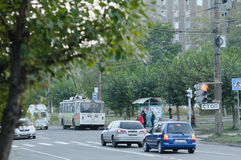 Calle de Bratsk Foto de archivo