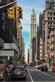 Calle de Broadway, New York City Foto de archivo libre de regalías