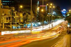 Calle de Calmette de la noche en Saigon Fotos de archivo libres de regalías