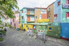 Calle de Caminito en Buenos Aires, la Argentina. Imagen de archivo