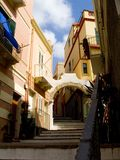 Calle de Carloforte Fotografía de archivo libre de regalías
