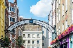 Calle de Carnaby en Londres Foto de archivo libre de regalías