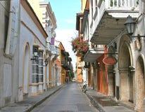 Calle de Cartagena Imágenes de archivo libres de regalías