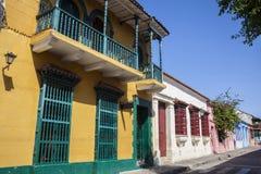 Calle de Cartagena de Indias Imágenes de archivo libres de regalías
