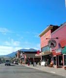 Calle de centro rural de Montana del estado Imagen de archivo