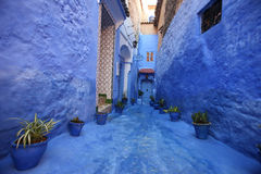 Calle de Chefchaouan Fotografía de archivo