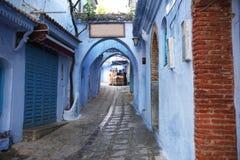 Calle de Chefchaouan Imagen de archivo libre de regalías